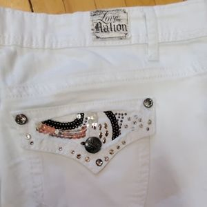 Love Nation Jeans - Love Nation White Denim Cropped Jeans